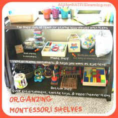 Montessori-Inspired Play Room Organization from ALLternative Learning