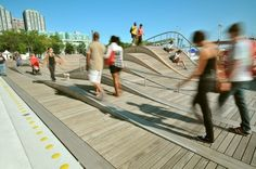 Simcoe WaveDeck, Lake Ontario Waterfront, Toronto, Canada - lots of levels to choose from...