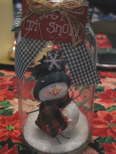 TONS of ideas to use your mason jars.  Great ideas. mason jar snowman craft