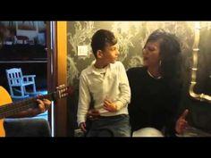 Adrian Martin Vega - Niño con problemas neurologicos cantando Que bonito de Rosario Flores - YouTube