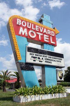 'Boulevard Motel' Neon Sign: Deland, Florida / photo by Kimberly Roberts