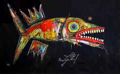 a Fish painting by Washington, DC painter Matt Sesow