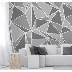 Wall Rogues Grey Radian Wall Mural ideen wandgestaltung dunkles bett Wall Rogues Grey Radian Wall Mural - The Home Depot