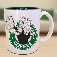 Vegeta Dragon Ball Z Starbucks Anime Manga by EternalRivalDesigns