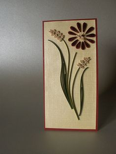 flower card quilled