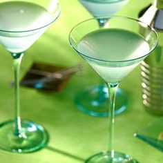 Ginger-Pear Martini - ginger, lime, pear slices in syrup, pear-flavored vodka, ice