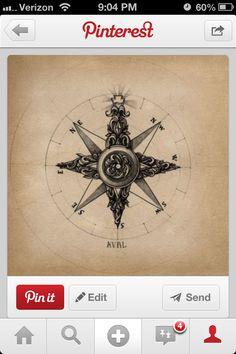 Compass tattoo. perfect. @Kaylie MacDonald Scott
