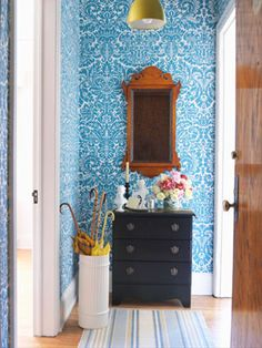 This is some beautiful wallpaper.. Intricately designed, but with an overall effect of color and texture.