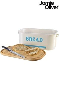 d524cb27ffe Buy Jamie Oliver® Bread Bin With Chopping Board Lid from the Next UK online  shop