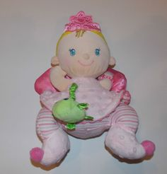 Fisher Price Baby Doll Stuffed Plush Toy Pink Girl Lovey Security Lovie Rattle  #FisherPrice