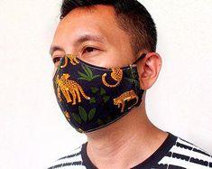 Monkey Face Mask Ape Surgical Mask Gorilla Mouth Mask | Etsy Cat Face Mask, Nose Mask, At Home Face Mask, Face Masks, Animal Noses, The Mask Costume, Cat Nose, Jungle Cat, Cheetahs