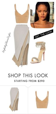 """""""2-6-18"""" by alaina-pettway on Polyvore featuring Maticevski, Dion Lee and Christian Louboutin"""