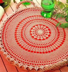 Simple Crochet Lace Doily