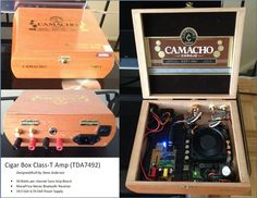 Pin by Gregorio Lopes on Cigars Cigar Box Projects, Cigar Box Crafts, Led Projects, Projects To Try, Good Cigars, Dell Laptops, Cigar Box Guitar, Built In Speakers, Diy Electronics