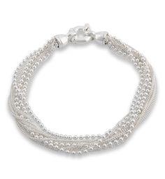 Bracelet multi-chaînes argent Intemporel Clio Blue Argent