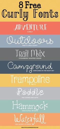 8 Free Curly Fonts: Font Series Beautiful Dawn Designs - Fonts - Ideas of Fonts - Ive been enjoying creating these roundups so cranking them out has been fun and easy.This week Ive rounded up 8 free curly fonts. Funky Fonts, Cool Fonts, Creative Fonts, Polices Cricut, Alphabet Police, Calligraphy Fonts, Calligraphy Alphabet, Font Alphabet, Graffiti Alphabet