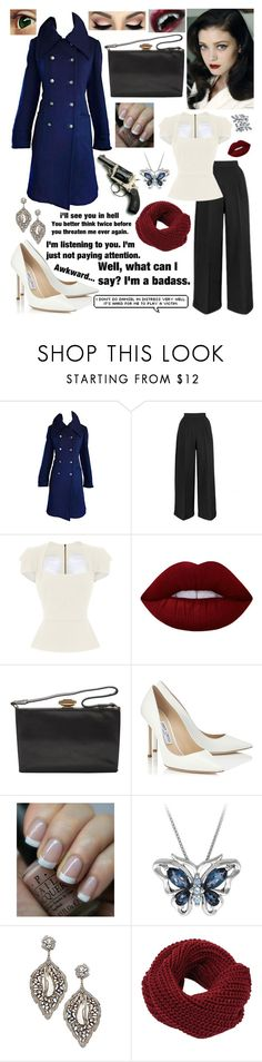 """'I Won't Give Up'"" by prettyflyforawifi ❤ liked on Polyvore featuring Roland Mouret, Lime Crime, Jimmy Choo, OPI, Artisan, Bling Jewelry and christinagrimmie"