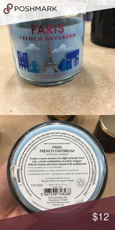 Bath & Body Works Paris French 3 wick candle New Paris French Daydream 3 wick candle. Never been used. Other