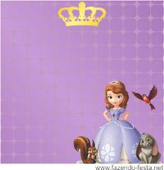 kit princesa sophia tag lembrancinha