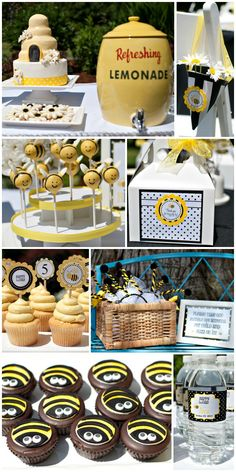 "TOO cute - a ""BEE-DAY"" party! Bumble bee birthday... <3"