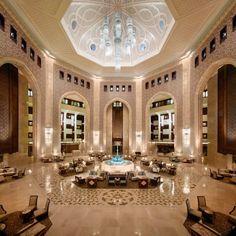 The lobby of Al Bustan Palace.