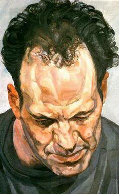 Portrait of Frank Auerbach, by Lucian Freud