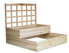 home depot raised garden bed + trellis