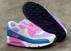 online store ae97b 262e8 1767   Nike Air Max 90 Le Dam Light Rosa Blå Lila Rosa Vit SE173052wMxHXc