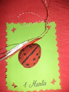 martisor buburuza Baba Marta, 8 Martie, 3, Crafts For Kids, Projects To Try, Felt, Christmas Ornaments, Holiday Decor, Children