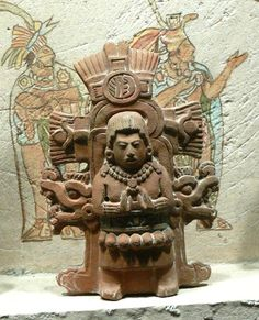 Classic Mayan period (Mesoamerican, c. 250-900 CE) Mayan Priest (c. 400-800 CE) Ceramic figurine Museo Nacional de Antropologia, Mexico City