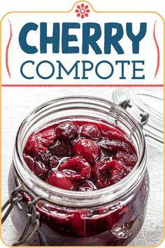Cherry Recipes, Jelly Recipes, Jam Recipes, Canning Recipes, Cherry Ideas, Cherry Desserts, Detox Recipes, Summer Recipes
