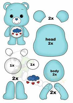 Felt Animal Patterns, Felt Crafts Patterns, Stuffed Animal Patterns, Teddy Bear Sewing Pattern, Plush Pattern, Sewing Toys, Sewing Crafts, Sewing Projects, Felt Dolls