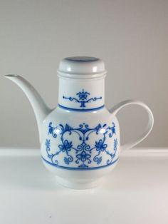 Melitta-Friesland-Kaffeekanne-Berlin-Friesisch-Indisch-Blau-Zwiebelmuster-selten