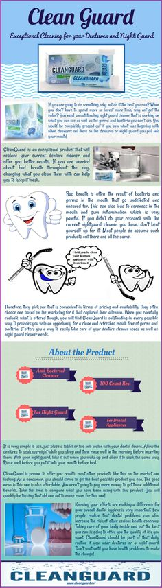 Visit this visual presentation if you are looking to buy denture cleaner to clean your dental appliances? Clean Guard provides you an effective mouth guard cleaner that can clean your dental appliances easily without any damage. You can buy denture cleaner from our amazon store at just $9.99.