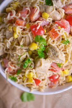 Pasta Salad, Food And Drink, Cooking, Ethnic Recipes, Crab Pasta Salad, Cucina, Kochen, Cuisine, Noodle Salads