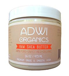 100% Pure Raw Unrefined Organic Shea Butter - Best Quality Fresh Premium Grade A Ivory - Rich in Vitamins A & E - Natural Anti-Inflammatory & Anti-Aging Properties - For Skin and Hair, Body Butters, Soaps and Other DIY Recipes - Excellent Daily Moisturizer - Treatment For Acne, Eczema, Stretch Marks, Etc - Recyclable BPA-Free Jar - 100% Satisfaction Guarantee - 1 LB (16 oz.) Adwi Organics http://www.amazon.com/dp/B00L8JBNE4/ref=cm_sw_r_pi_dp_9THXtb0YNF464EJT