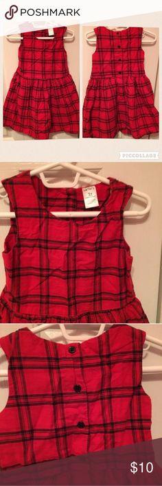 Carter's Toddler Dress 3T Carter's Toddler Dress. Size: 3T. Color: Red/Black Carters Dresses
