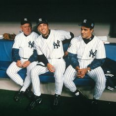 Don Zimmerman Derek Jeter and Joe Torre in the dugout before Game 1 1998 World Series