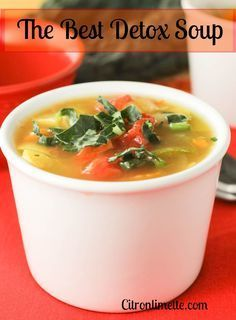 The Best Detox Soup Recipe vegetarian meals healthy vegetarian recipes easy vegan recipes beginner vegan protein pancakes vitamix soup recipes healthy fenugreek roasted beets lunch idea for teens cute lunch ideas for kids Detox Recipes, Vegan Recipes, Cooking Recipes, Paleo Vegan, Vegan Detox, Diet Soup Recipes, Delicious Recipes, Sopas Light, Sopa Detox