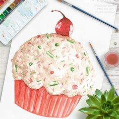 Personalised Stickers Handmade by étiquettes tailles diverses nom Cartoon Cupcake 14