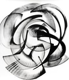 """Streblorrhiza speciosa (47"""" x 41""""), a Ink on Paper by Thomas Hammer from United States. It portrays: Abstract, relevant to: black and white , ink on paper, abstract, ink, modern, movement I aim to depict movement and energy with paint. This series is titled after an extinct plant, evoking a moment in time which we cannot return to. Initially, I was inspired by post-war action painting, but over time have developed my own vocabulary of textures, gestures, and techniques when applyin..."""