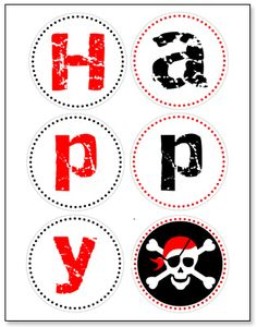 pirate birthday party banner printable a page