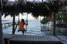 Swing in Caye Caulker