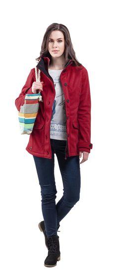 Wooxusní zboží za malý peníz. www.woox.cz Red Leather, Leather Jacket, Collection 2017, Softshell, Lady, Jackets, Fashion, Studded Leather Jacket, Moda