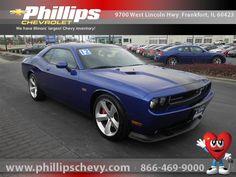 2012 Dodge Challenger, Blue Streak Pearlcoat, 12527725    http://www.phillipschevy.com/2012-Dodge-Challenger-SRT8-392-Chicago-IL/vd/12527725#