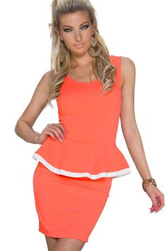 Coral Ruffles Bow Decor Open Back Sexy Party Dress