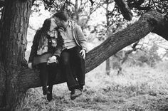 Anna & Ian sitting in a tree K-I-S-S-I-N-G ... Engagement photos from the Lickey Hills by Mustard Yellow Photography