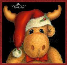 Kris The Moose E-Packet is a digital file por DebbieColeDesigns Christmas Moose, Simple Christmas, All Things Christmas, Christmas Drawing, Christmas Paintings, Easy Christmas Decorations, Christmas Ornaments, Moose Decor, Moose Art