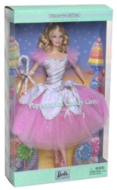 Barbie Peppermint Candy Cane Doll The Nutcracker New in The Box 074299575785 | eBay