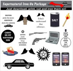 Supernatural Iron On Transfers Instant by IronItOnWithLove on Etsy
